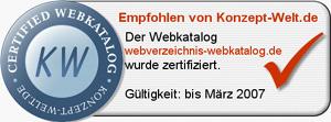 Webkatalog Zertifizierung